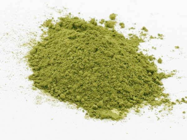 Photo of Moringa oleifera leaves powder.